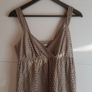 Vince Cream eyelet dress with Pockets Size 2